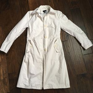 H&M Linen Blend Trench Coat in Tan - Size 4